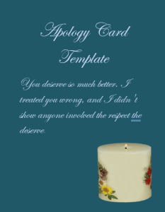 Apology Card Template