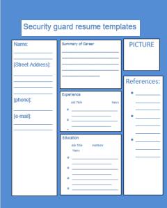 Security Guard Resume Template