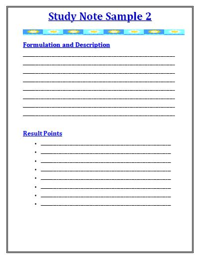 Study Notes Template bible sermon templatebible bible helpers – Study Notes Template