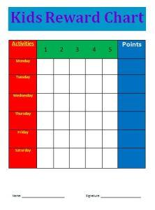 reward charts template