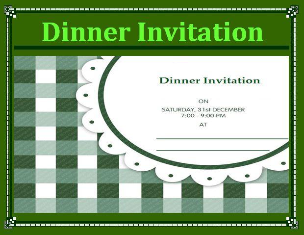 Dinner Invitation Template dinner invitation template dinner – Dinner Invitation Template