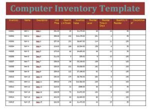 computer inventory template