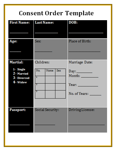 consent order template