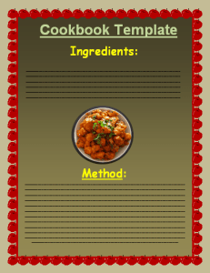 cookbook template