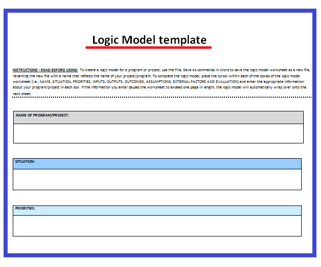 11 logic model templates free word templates for Logic model template microsoft word