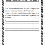 statement of work done template