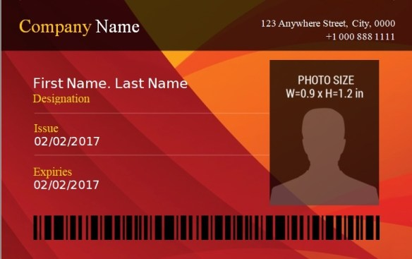ID Badge Template 2
