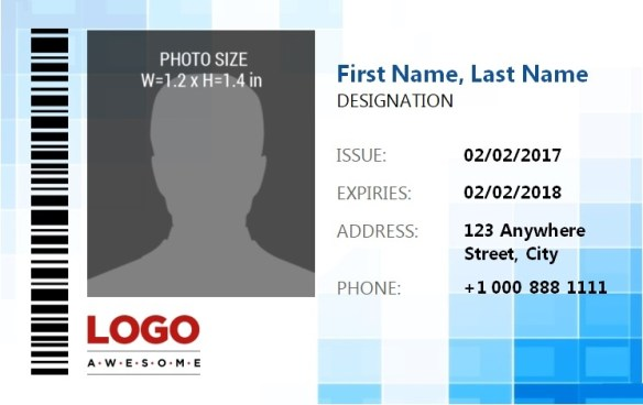 ID Badge Template 4