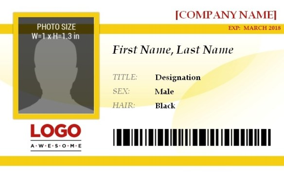 ID Badge Template 8