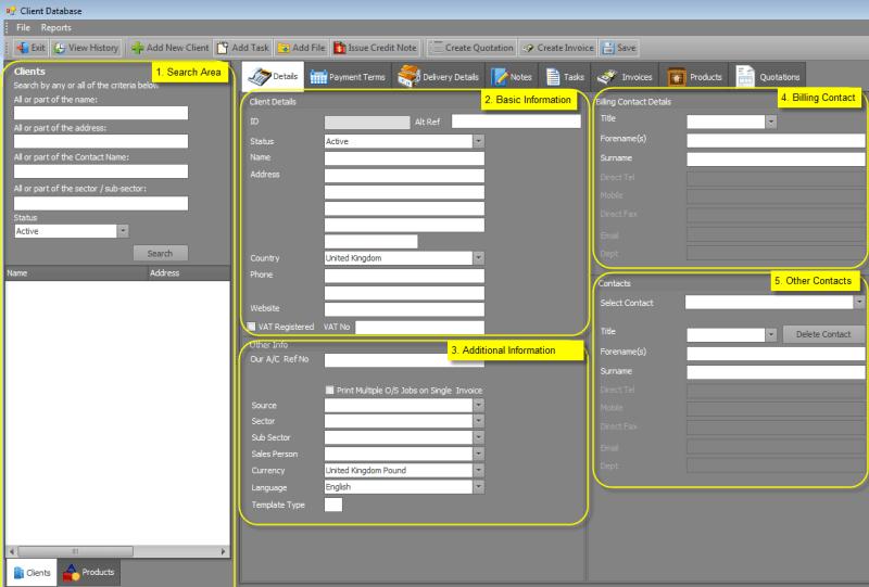 3 excel client database templates excel xlts. Black Bedroom Furniture Sets. Home Design Ideas