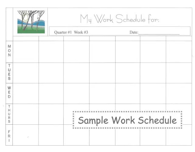 daily work schedule template image 5