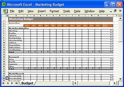 excel marketing plan template