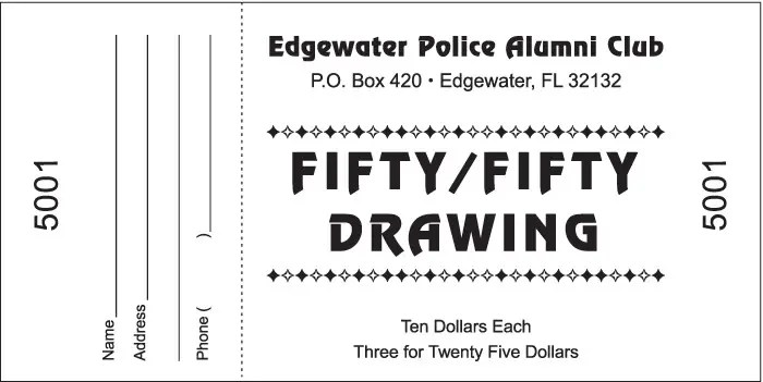 4 raffle ticket templates excel xlts for Template for raffle tickets to print