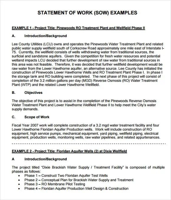 statement of work template 1