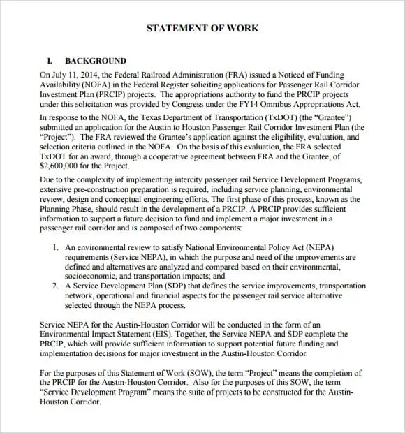 statement of work template 4