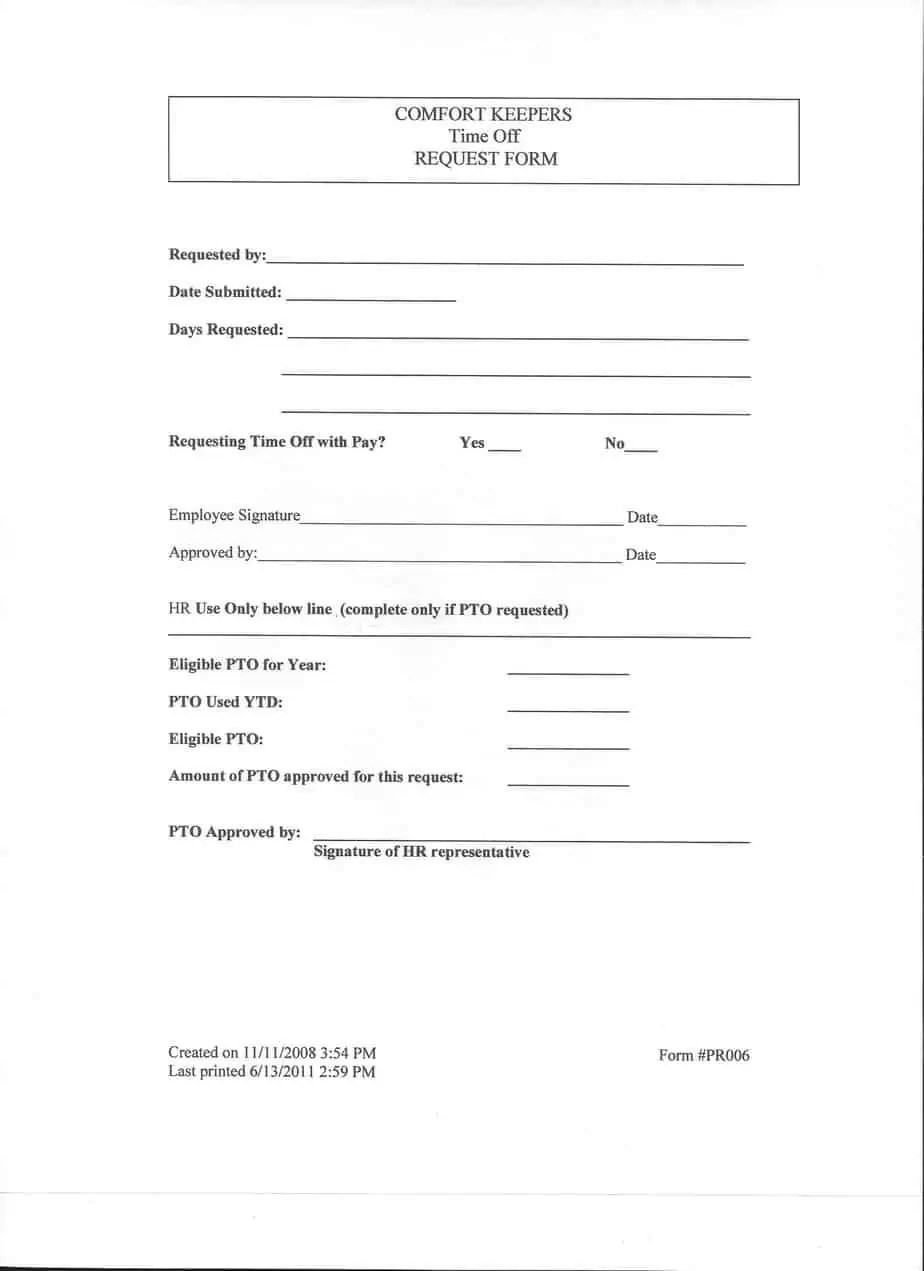 Excel Vacation Request Form Pictures to Pin PinsDaddy – Request for Time off Form