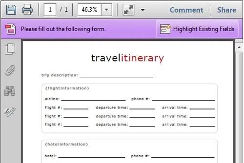 make a travel itinerary