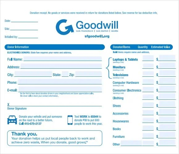 4 Tax Donation Receipt Templates Excel Xlts