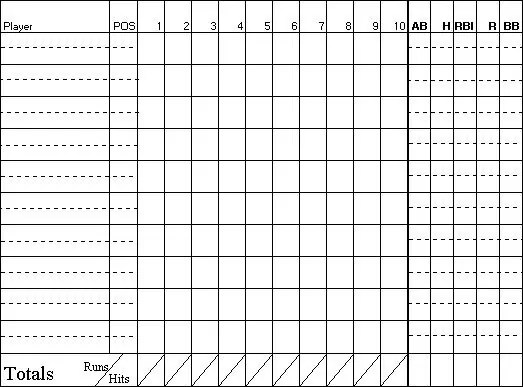 baseball score sheet template 4