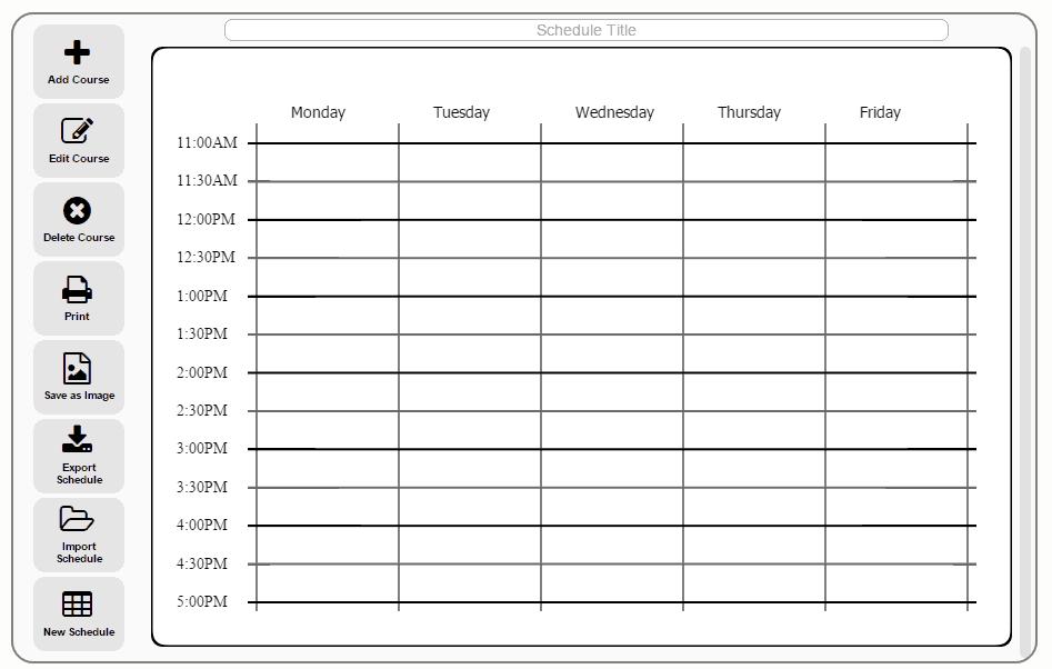 online college schedule maker