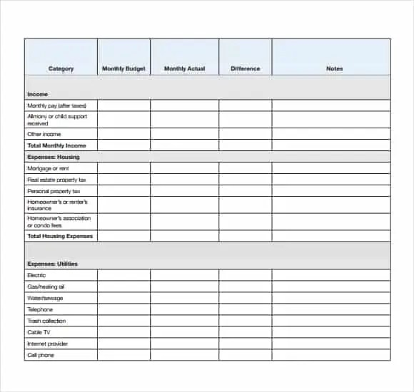 4 Daily Budget Spreadsheet Templates - Excel xlts