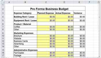 4 Excel Marketing Plan Budget Templates Excel Xlts