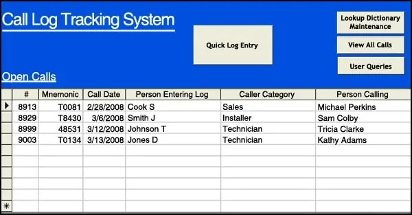 4 sales call log excel templates