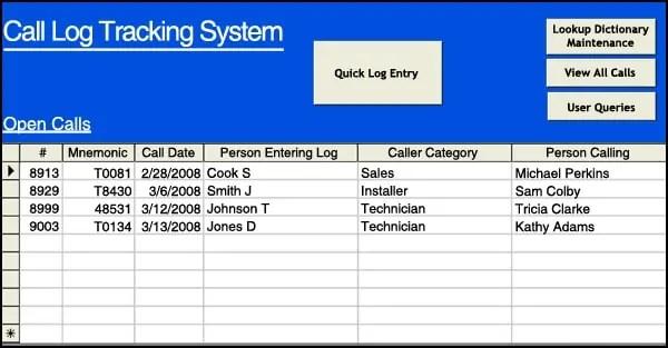 4 sales call log excel templates excel xlts. Black Bedroom Furniture Sets. Home Design Ideas