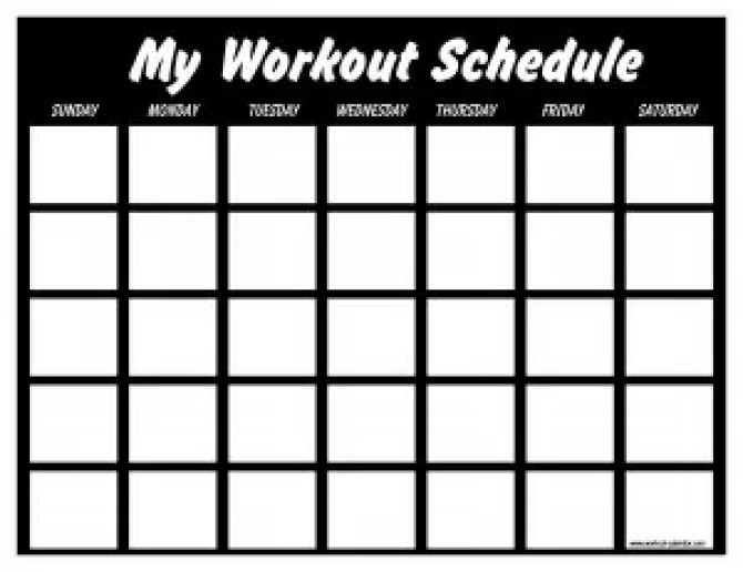Workout Calendar Templates  Excel Xlts