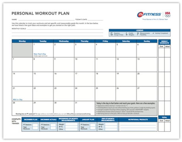 workout calendar template 4