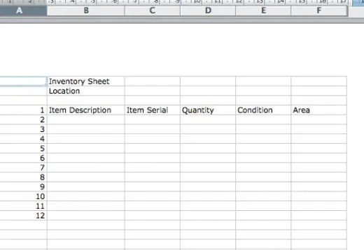 Inventory Sheets Template. Food Inventory Form Sample Food