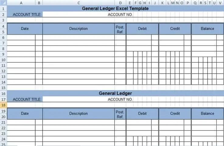 3 Excel Ledger Templates - Excel xlts