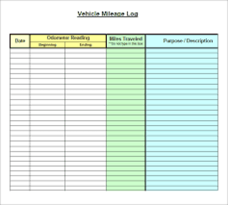 mileage log template 44