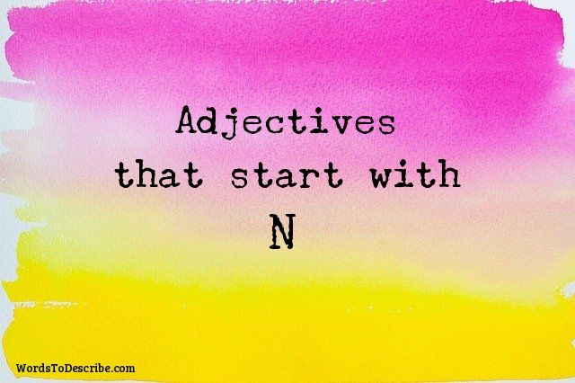 adjectives that begin with N