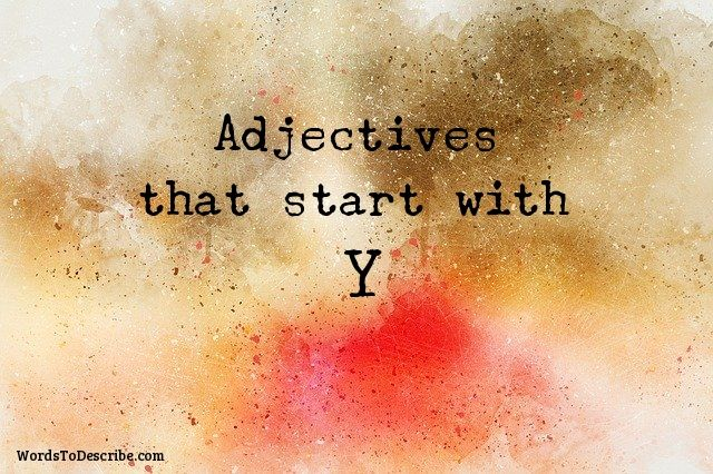 adjectives that begin with y