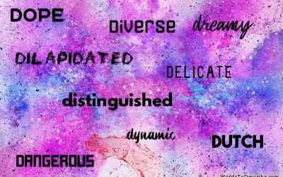 Adjectives That Start With D