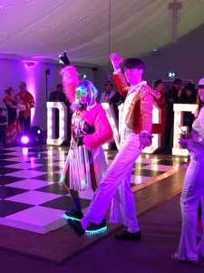 DANCE light up words on the CBBC show 'Marrying Mum and Dad'