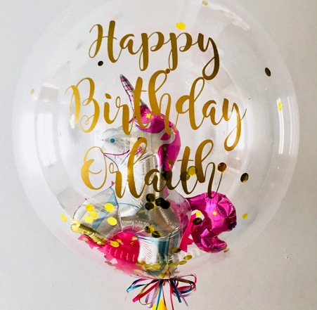 Happy Birthday Bubble Balloon Hire