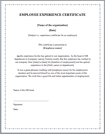 Work Certificate Template certificate sample work certificate – Work Done Certificate Sample