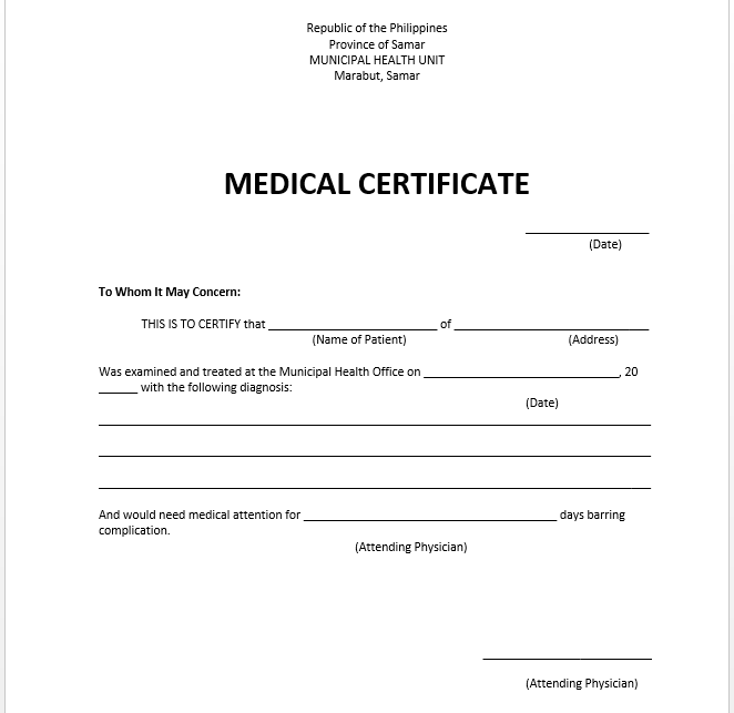 Sick Leave Template medical certificate 21july click on image to – Download Medical Certificate