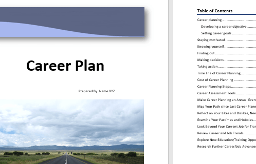 HD Decor Images » Career Plan Template     Microsoft Word Templates Career Plan Template 1