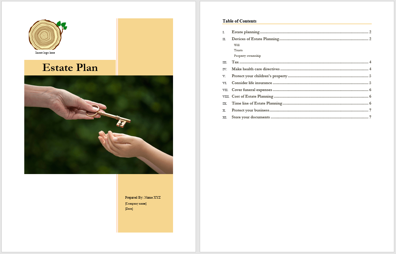 Estate Plan Template Microsoft Word Templates