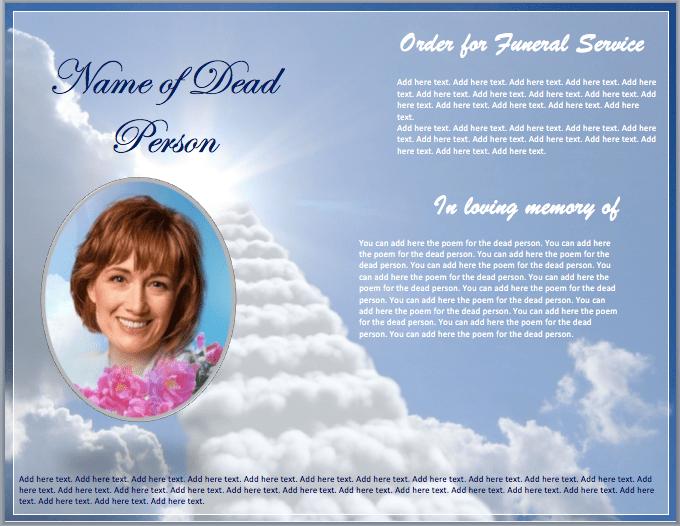 Funeral Brochure Template funeral memorial flyer template format – Funeral Flyer Template