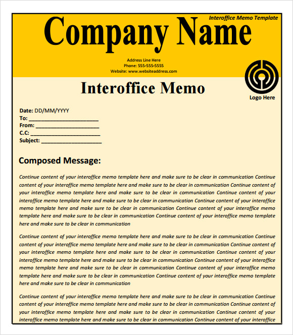 Interoffice Memo Templates  Word Templates Docs