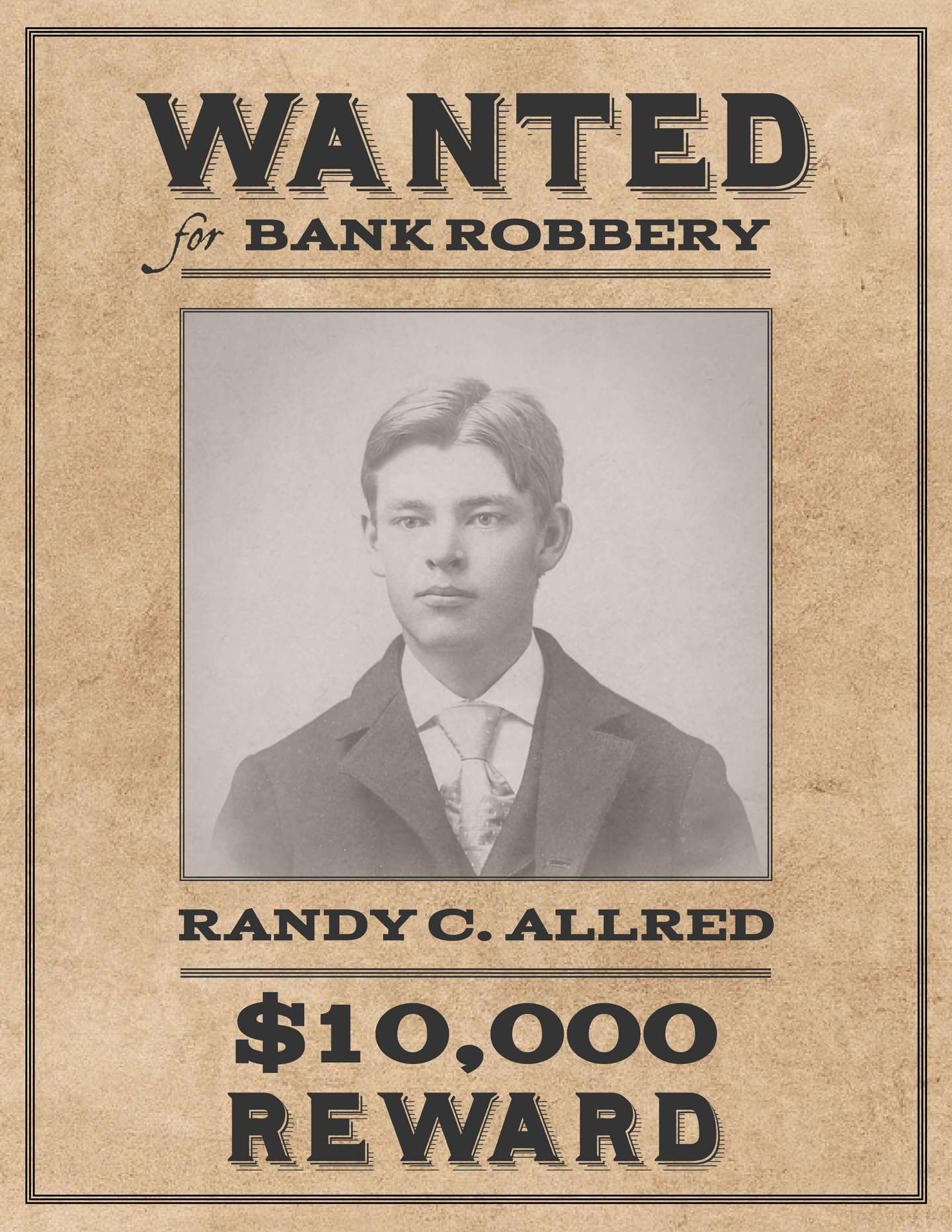 Free Wanted Poster Templates  Free Wanted Poster Template