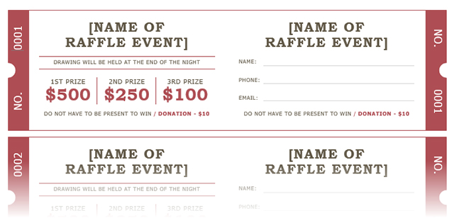 These Free Raffle Ticket Examples And Formats Are Considered As Great  Resources To Make And Print Tickets At Home Or In Office.  How To Make Tickets For An Event For Free
