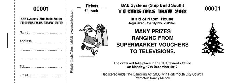 sample raffle ticket