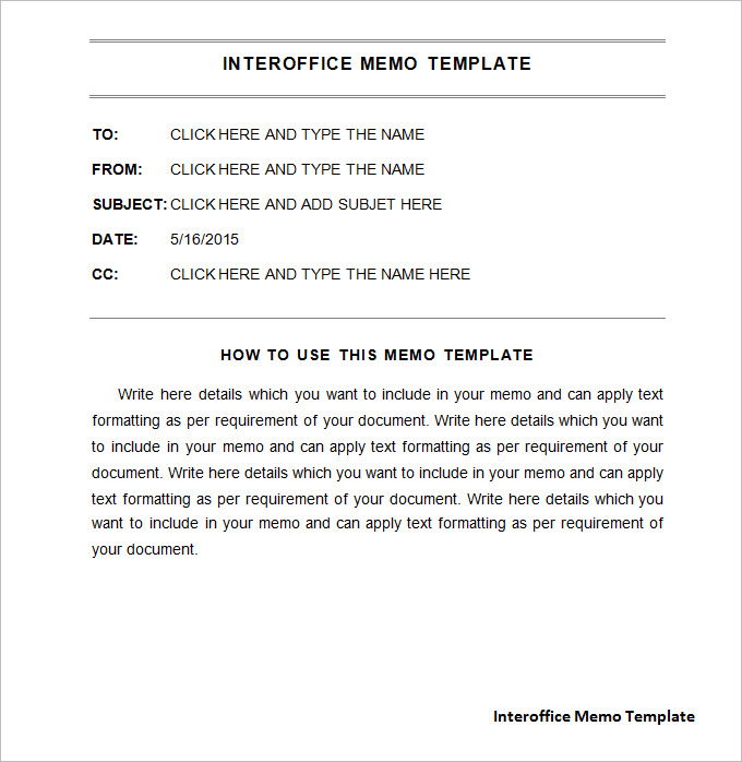 Interoffice Memo Samples PDF