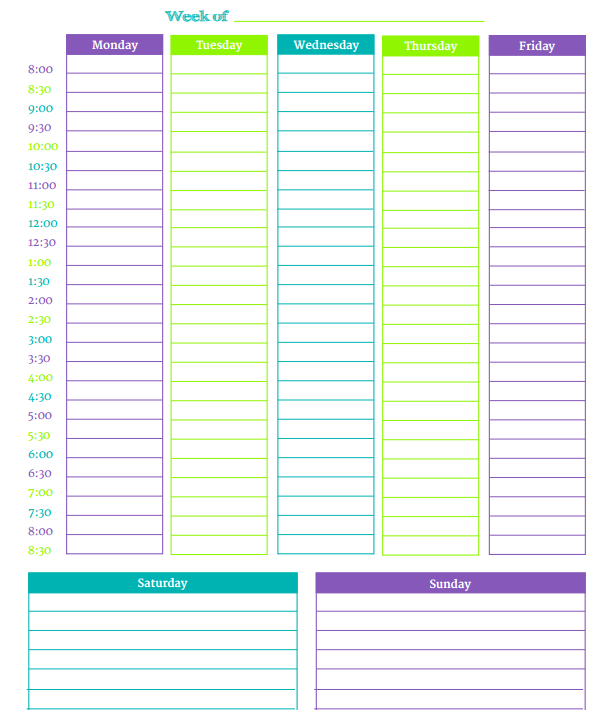 how to make a weekly schedule
