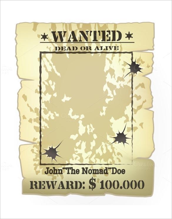 Wanted Poster Templates - Word Templates Docs